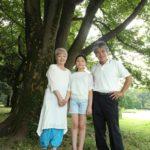 おじいちゃん、おばあちゃんと一緒